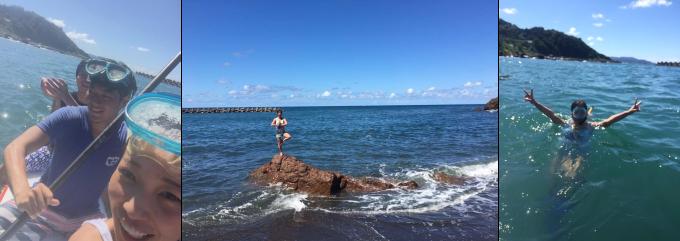 薫ちゃんと海