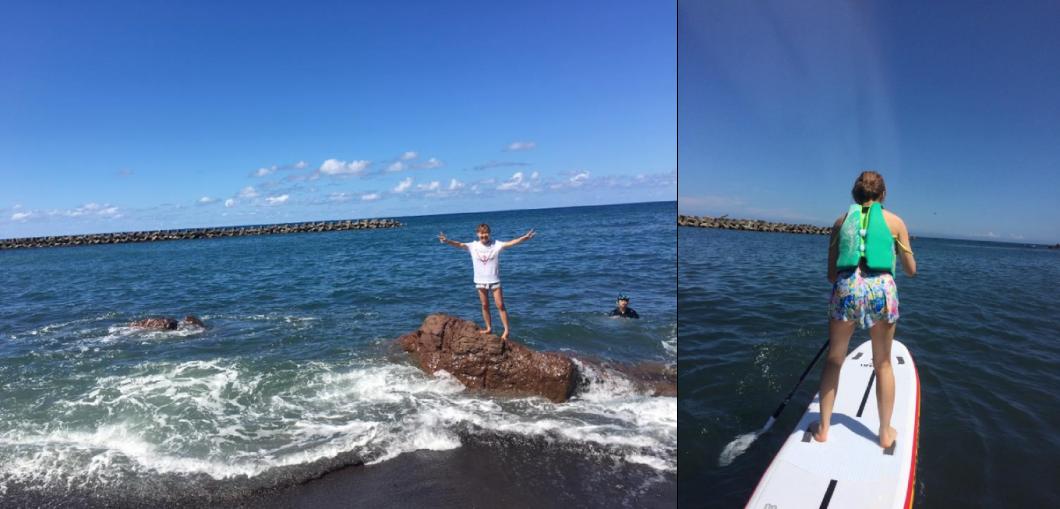真子ちゃんと海